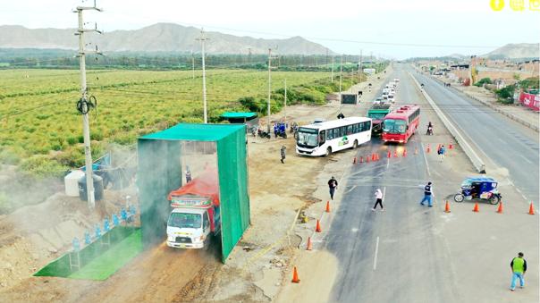 Desinfectarán las vías de acceso a la ciudad de Trujillo