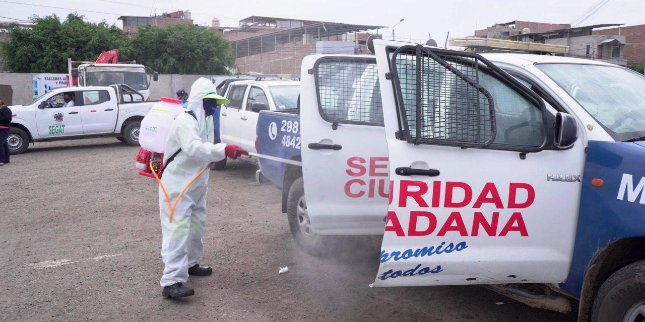 CAMPAÑAS DE DESINFECCIÓN DEL SEGAT REDUCIRÍAN RIESGO DE CONTAGIO