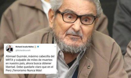 Hijo de César Acuña confunde al terrorista Abimael Guzmán con Víctor Polay