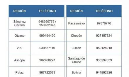 Gobierno Regional comparte listado de personas para traslado humanitario y contacto para acceder a ellos