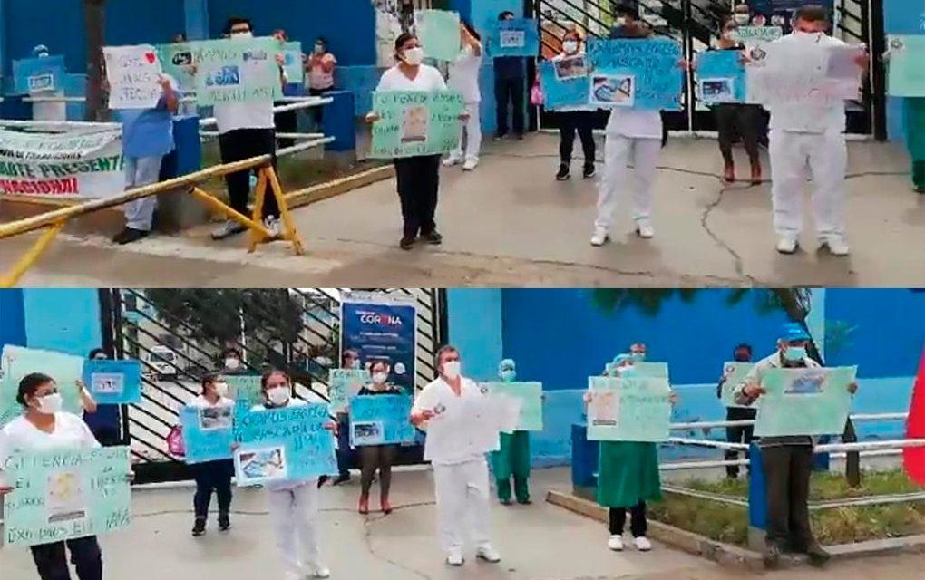 Personal del hospital Víctor Lazarte exige equipos de protección personal por igual
