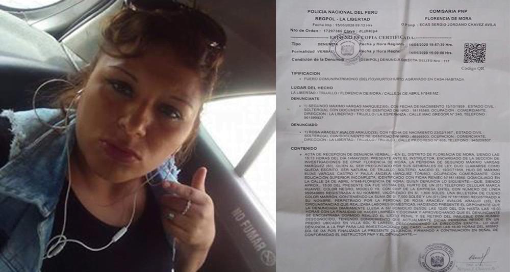 Florencia de Mora: Empleada del hogar dopa a anciano y fuga con más 20 000 soles