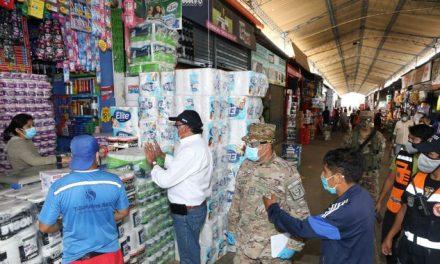 Defensa Civil continúa interviniendo mercados de Trujillo para hacer cumplir normas