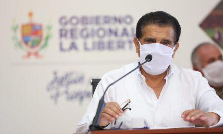 Gobernador regional de La Libertad pide al gobierno reactivación económica sea para el lunes 11 de mayo