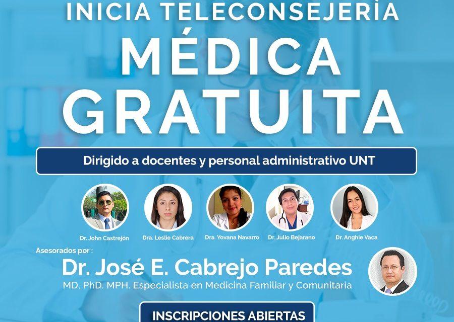 Profesional médico de la UNT brindará teleconsejería médica al servicio de la comunidad