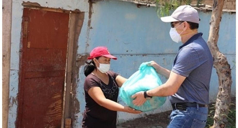 400 familias vulnerables reciben víveres