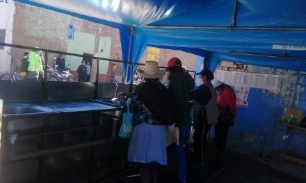 Instalan lavamanos en mercado de Otuzco