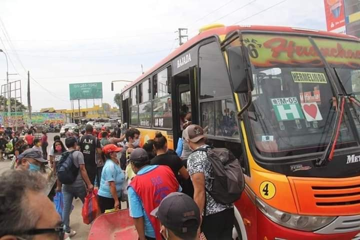 Dos conductores de transporte público Huanchaco contagiados con COVID-19