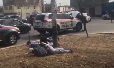Policía y tres delincuentes desatan balacera en Víctor Larco