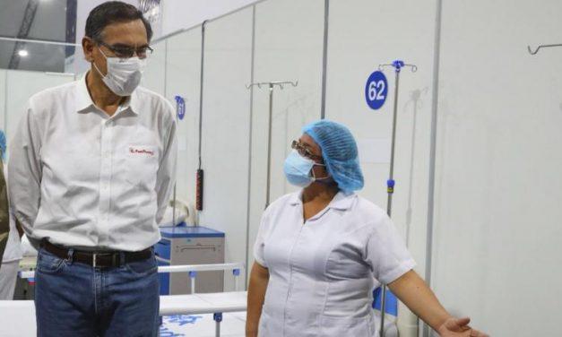 Martín Vizcarra llegará a Trujillo para inaugurar hospital temporal